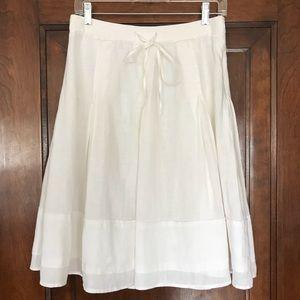 Banana Republic Linen Pleated Boho A-Line Skirt